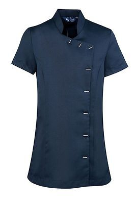 PREMIER PR682 ORCHID BEAUTY & SPA TUNIC HAIRDRESSERS THERAPISTS NAVY Size 10 &18