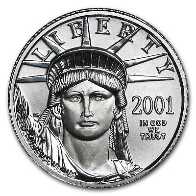 2001 1/10 oz Platinum American Eagle BU - SKU #4886