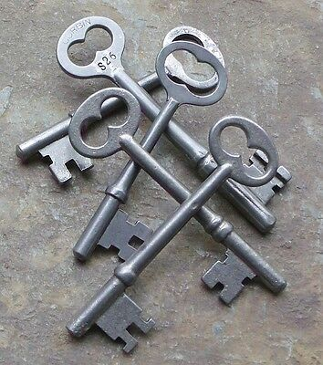 Five Antique Mortise Lock Skeleton Keys Antique Door Keys Cool Keys