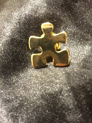 Autism Gold Puzzle Pin
