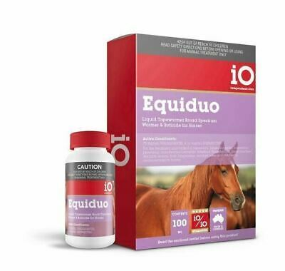 iO Equiduo Liquid Horse wormer 100ml equiv to ultramax 1/2 the price of Paste