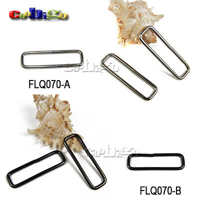"""2"""" Webbing Metal Rectangle Rings Nonwelded Nickel Plated for Backpack Straps"""