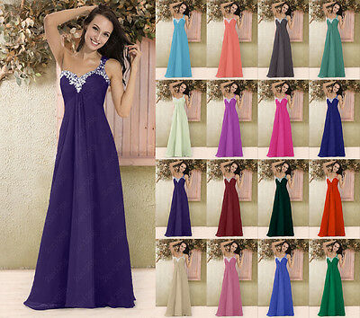 New Bridesmaid Formal Wedding Gown Ball Cocktail Evening Prom Party Long Dress