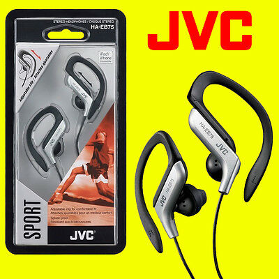 Jvc Ha-Eb75S Silver Sports Adjustable Ear Clip Earphones Headphones Gym Running