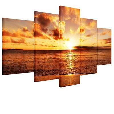 Hot Modern Large Sunset Unframed Canvas Picture Wall Art Oil Painting Home Decor