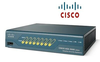 €995+IVA CISCO ASA5505-SSL25-K9 Firewall w/25 Premium VPN users PoE AnyConnect