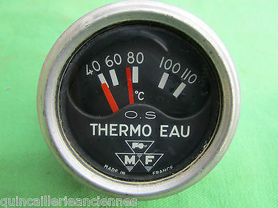 "Compteur tracteur ancien 0.S ""Thermo eau"" Massey Fergusson made in France"