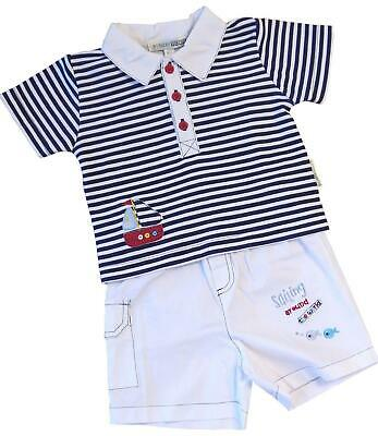 BabyPrem Baby Clothes Boys Nautical Stripes T-Shirt Top & Shorts Set Outfit