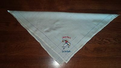 eb Rodeo Scarf Handkerchief Great Falls Montana Let'er Buck Embroidery 15 1/2""