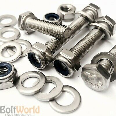 Nyloc Nuts /& Washers 580pc Assorted M6 M8 Stainless Steel Fully Threaded Bolts