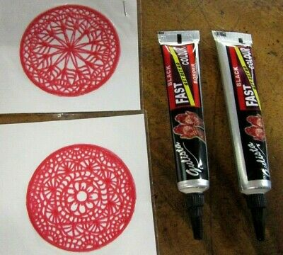 Fast Henna DIY Kit w/ x 2 Stencils Temporary Body Art Tattoo Indian Bollywood