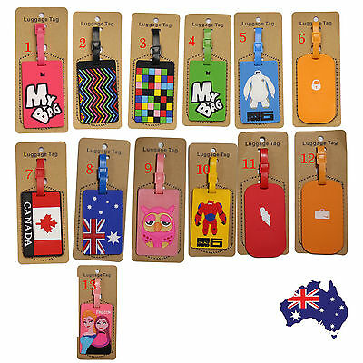 Travel Luggage Tag with Name ID Label Suitcase Plane Baggage Bag Label