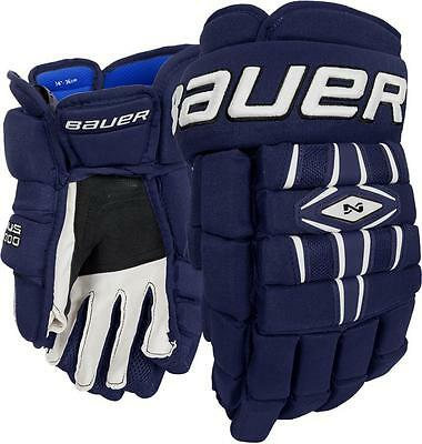 New Bauer Nexus 1000 Gloves Colour-Navy Size-Senior