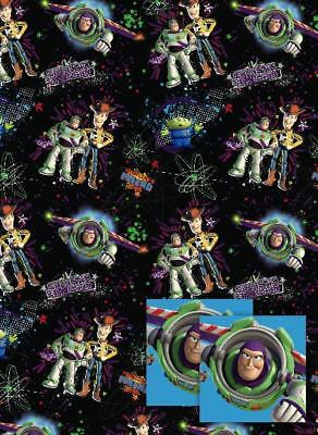 Toy Story Woody Buzz Lightyear Gift Wrap 2 Sheets & 2 Tags New