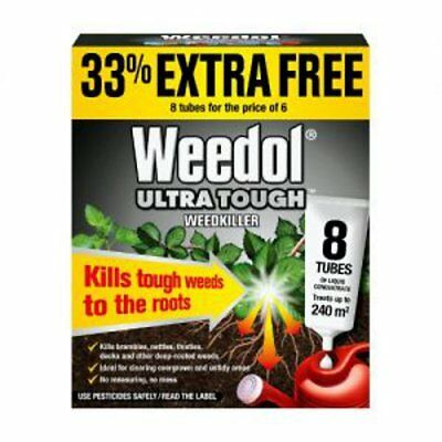 Weedol Ultra Tough Weedkiller 8 Tubes