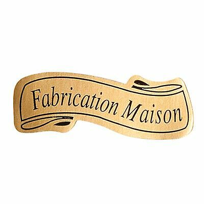 lot 50 etiquettes stickers fabrication maison marron ecru brun NEUF