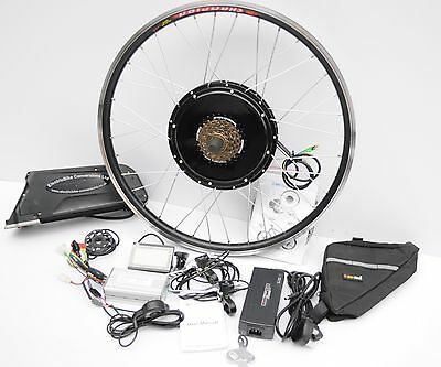500W Electric E Bike Conversion Kit With Battery 36v Lithium Front/Rear Wheel