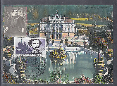 W 02 ) beautiful Maxi Card MC Germany 1986 -  the royal palace Linderhof