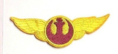 """Star Wars Rebel Forces Wing Logo- 3"""" Yellow/Brown Patch-USA Mailed(SWPA-FC-15-R)"""