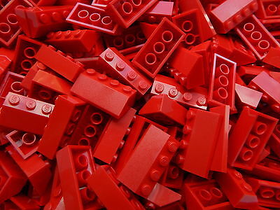 LEGO Roof Slopes Tiles # RED 2x4 # pack of 50 pieces # BRAND NEW