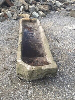 "Antique Carved Stone Water Trough 8'9"" Long"