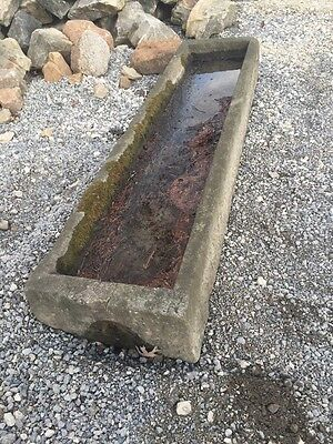Incredible Detail Antiques Stone Water Trough 8'6""