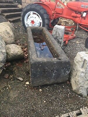 Antique Historic Carved Stone Water Trough 6 Foot