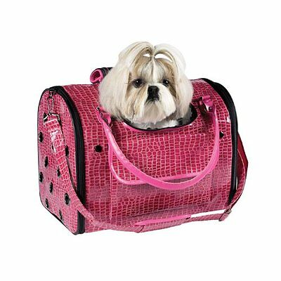 Fashion Faux Crocodile Pet Dog Cat Carrier/Tote/ Travel Handbag Medium ZACK ZOEY