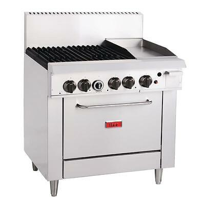 Thor 4 Burner Natural Gas Oven and 305mm Grill Commercial 1175Hx 915Wx 835Dmm