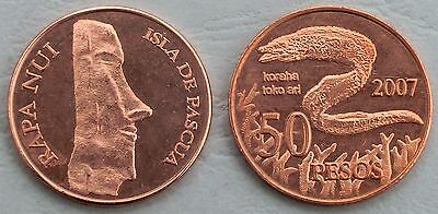 Osterinsel / Easter Island 50 Pesos 2007 unc.