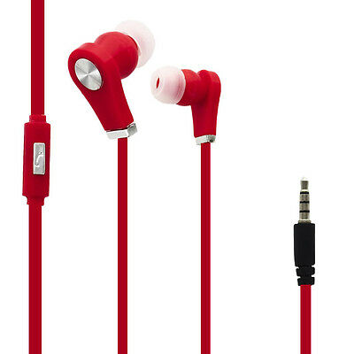 Ecouteurs Audio Intra-auriculaires Rouge pour Samsung Galaxy Tab 3 10.1