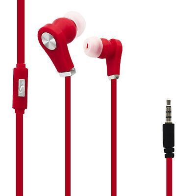 Ecouteurs Audio Intra-auriculaires Rouge pour Samsung Galaxy Tab 3 Kids
