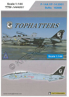 TOPTIERHOBBY decal 1/144 F-14A VF-14 Tophatters 2001