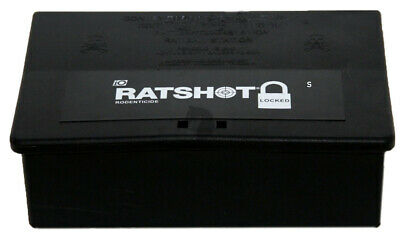 Freezone Ratshot (Rat) Mouse Poison Bait Station Tamper Resistant Locked Small