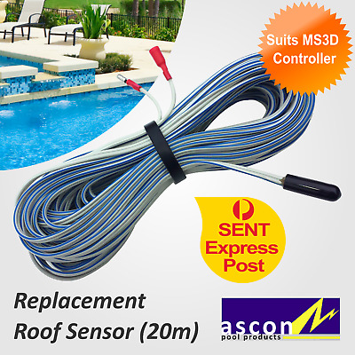 New Roof / Hot Temperature Sensor - Ascon MS3D Solar Pool Heating Controller