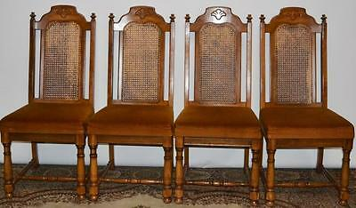 Set of 4 Antique Style Cane Back Dining Chairs - FREE Delivery [PL1949]