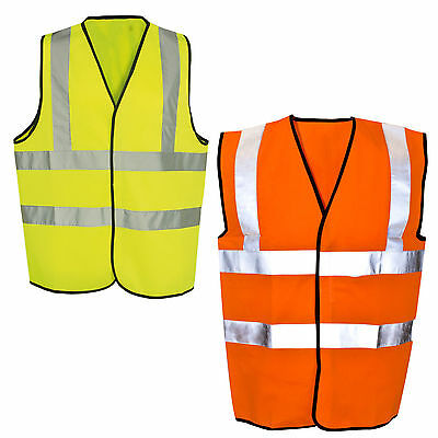 Yellow or Orange Hi Vis High Visibility Hi Viz Safety  Waistcoat Vest