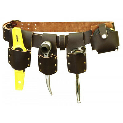 Builder's Mate 4 Pocket Tool Belt Tape Pincer Pliers Scaffold Spanner Holder