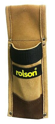 Spirit Level Holder Suede Leather Scaffold Tool Frog Holster Belt Pouch - ROLSON