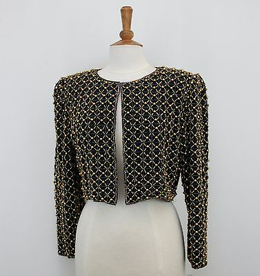 Jasdee Vintage Bolero Jacket Hand Work Beading On Silk Style 2069