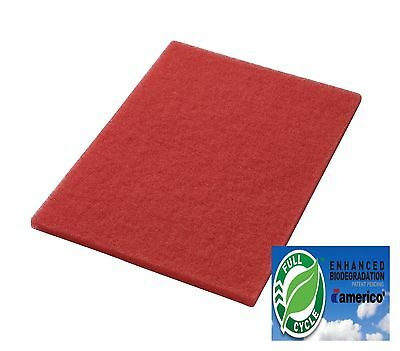 Pacific S20 Orbital 855904 14 X 20 Red Buffing Floor Pads Box of 5 Aftermarket