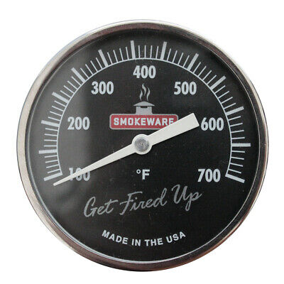 Black SmokeWare Temperature Gauge for Big Green Egg (Can Calibrate)