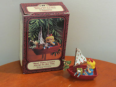Enesco Memories Of Yesterday~ 'bout Time I Came Along To See You~Hanging Ornamen
