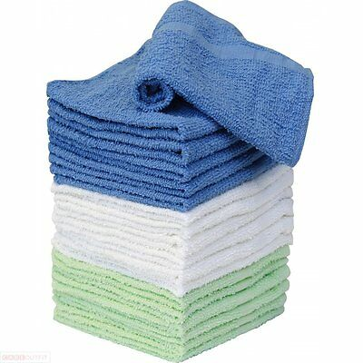 Wash Cloth Towels - 100% Cotton - 18 Pack - White Brown and Natural