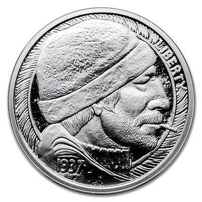 Hobo Nickel Series The Fisherman 1 oz .999 Silver Proof Round USA Bullion Coin