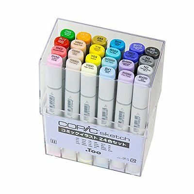 Copic Sketch Comic Illustration Marker Pen 24 Color Set Gift Express Shipping