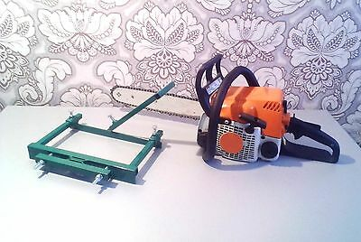 """Chainsaw mill Alaskan planking milling vertical from 13""""- 18"""" chain bar"""