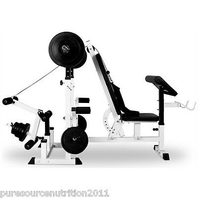 Mega Multi Gym Exercise Weight Bench Press Incline Arm Curl Triceps Chest Leg