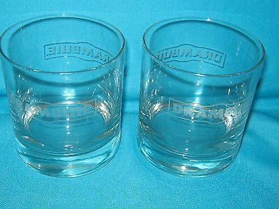 Set Of 2 Drambuie Scotch Whiskey Rocks Etched Drinking Glasses