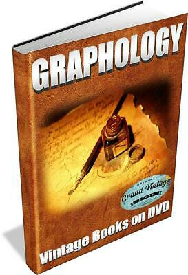 GRAPHOLOGY ~ Vintage Books on DVD ~ Autographs,Handwriting,Analysis,Forgery
